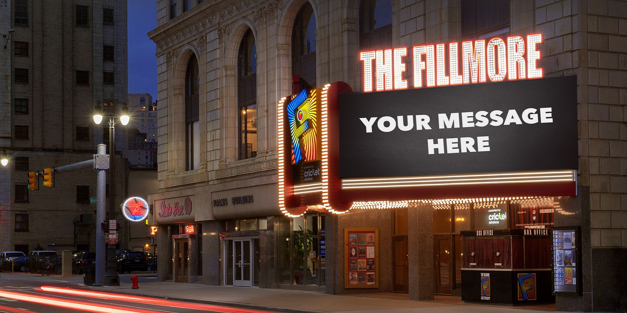 Fillmore Detroit - Marquee Message
