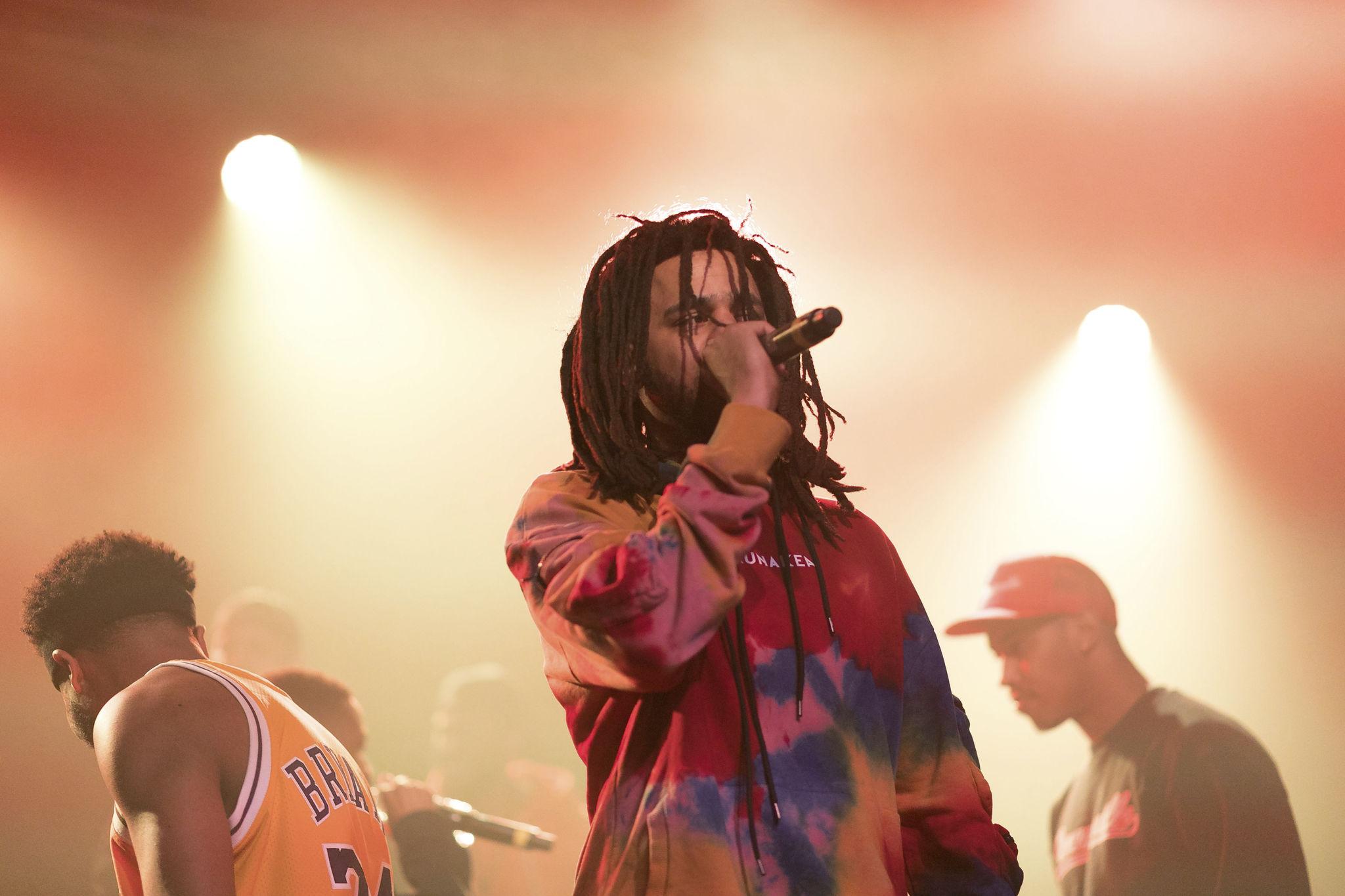 J-Cole On Stage