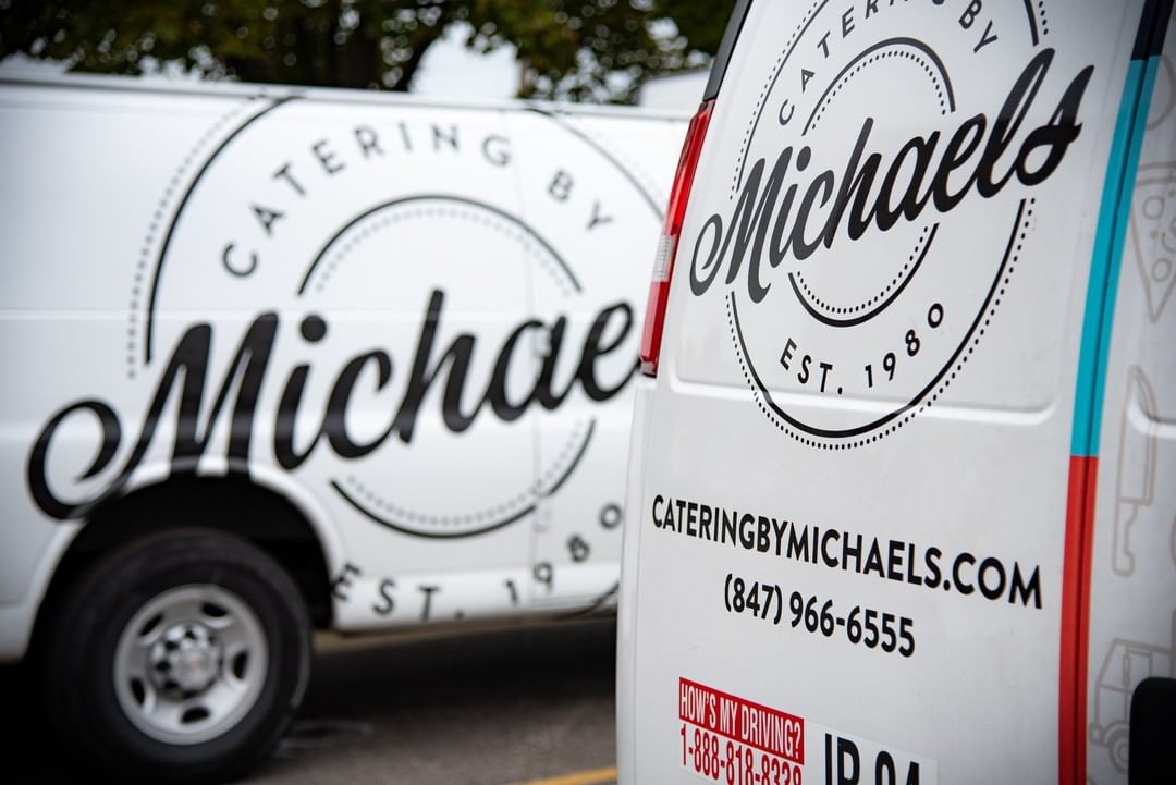 Catering by Michael's delivery trucks