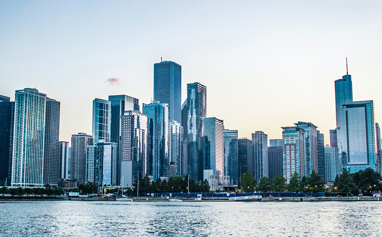 Chicago skyline on a clear bright day