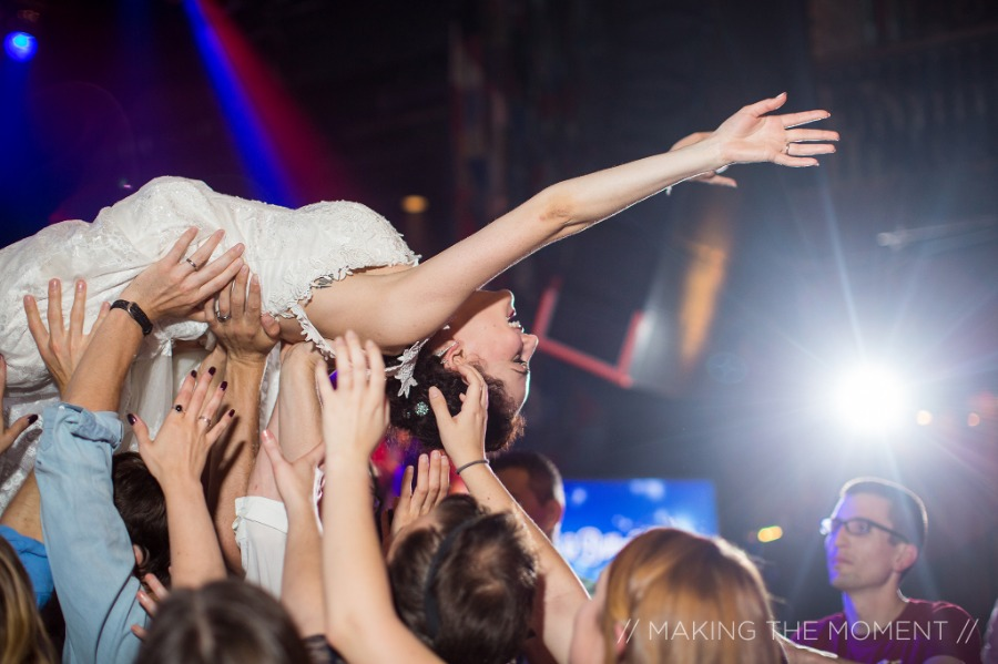 Bride Crowdsurfing