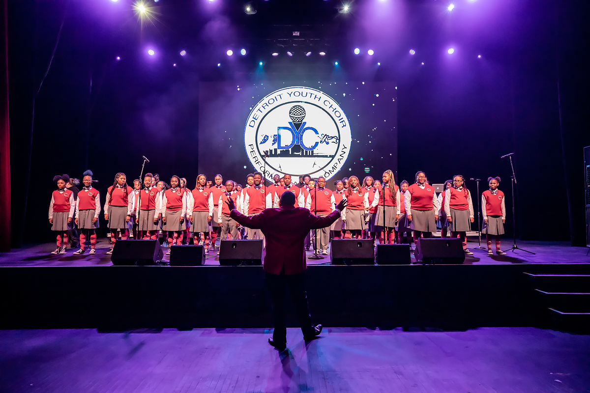 Detroit Youth Choir performs onstage at Live Nation Special Events Venue