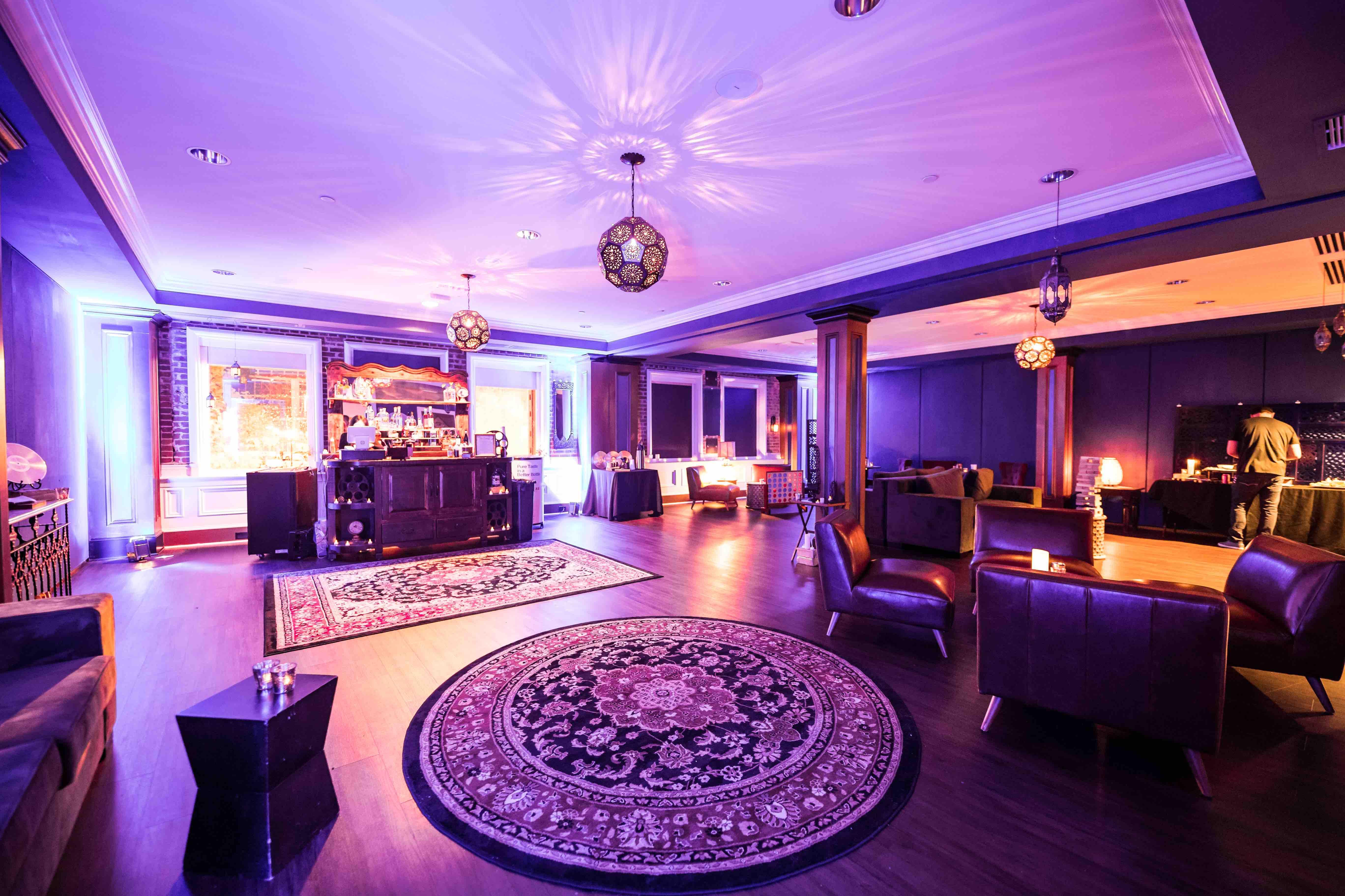 dramatically lit lounge space buckhead theater atlanta