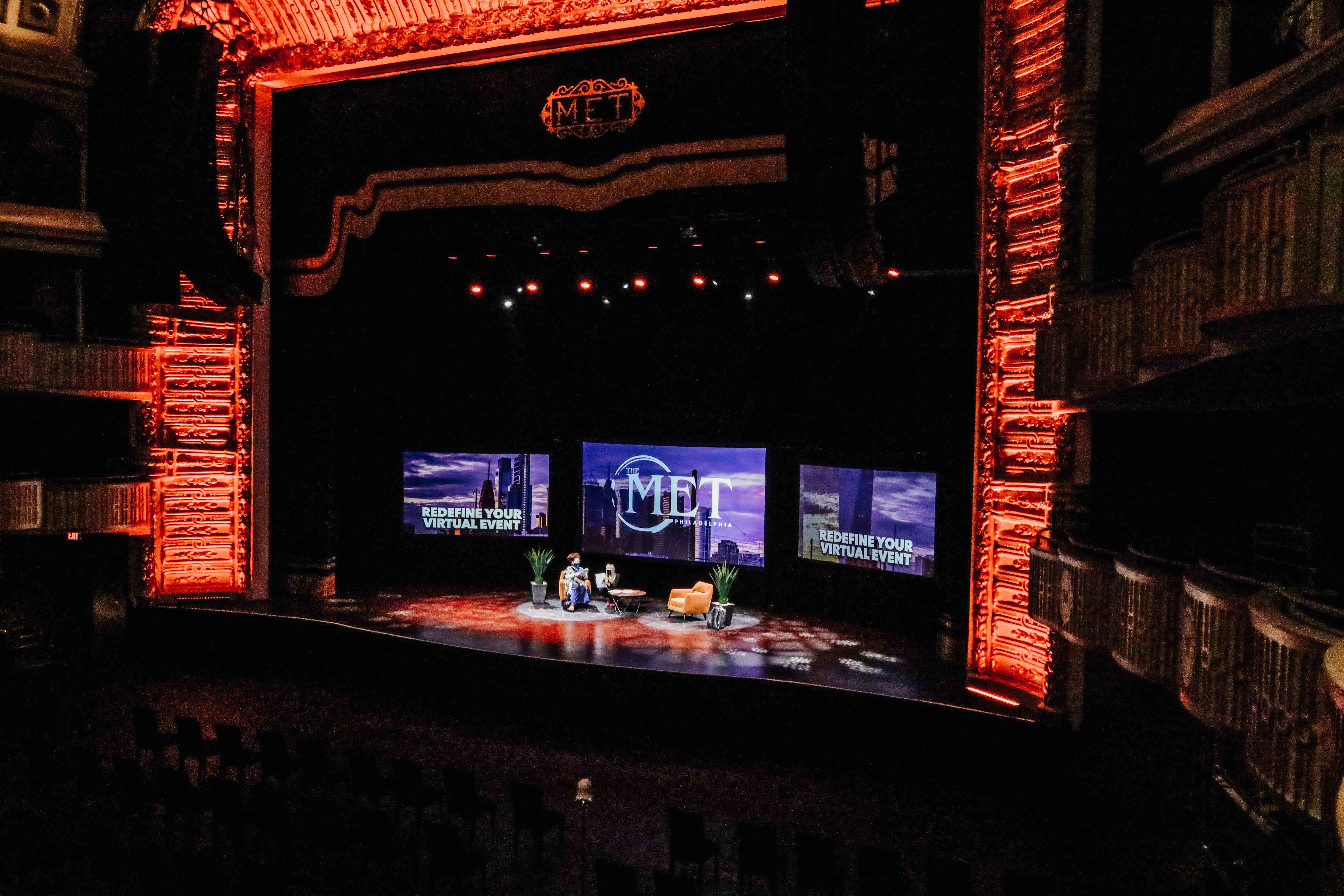 the met philadelphia stage live nation special events redefining virtual events panel