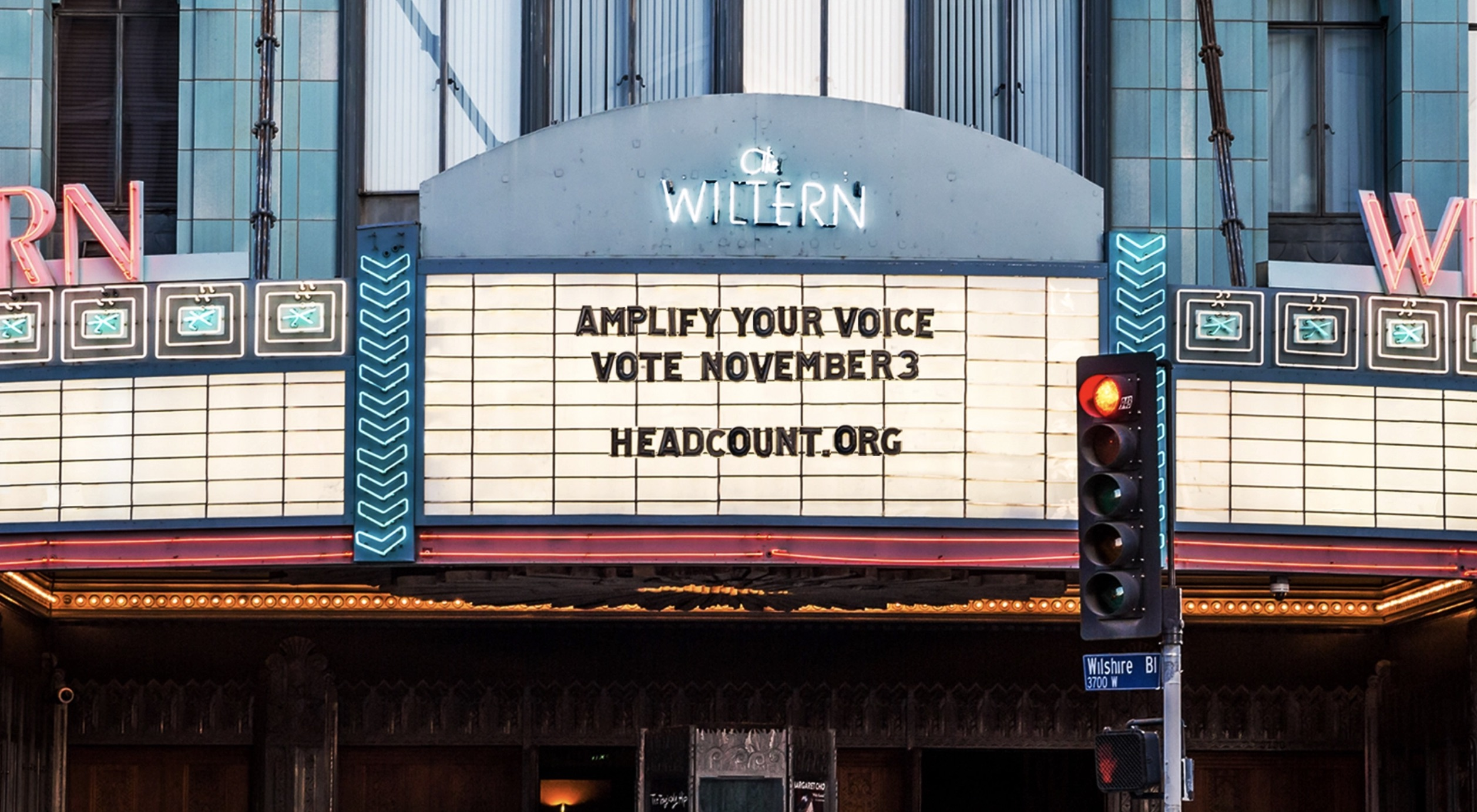wiltern voting center Election Day 2020