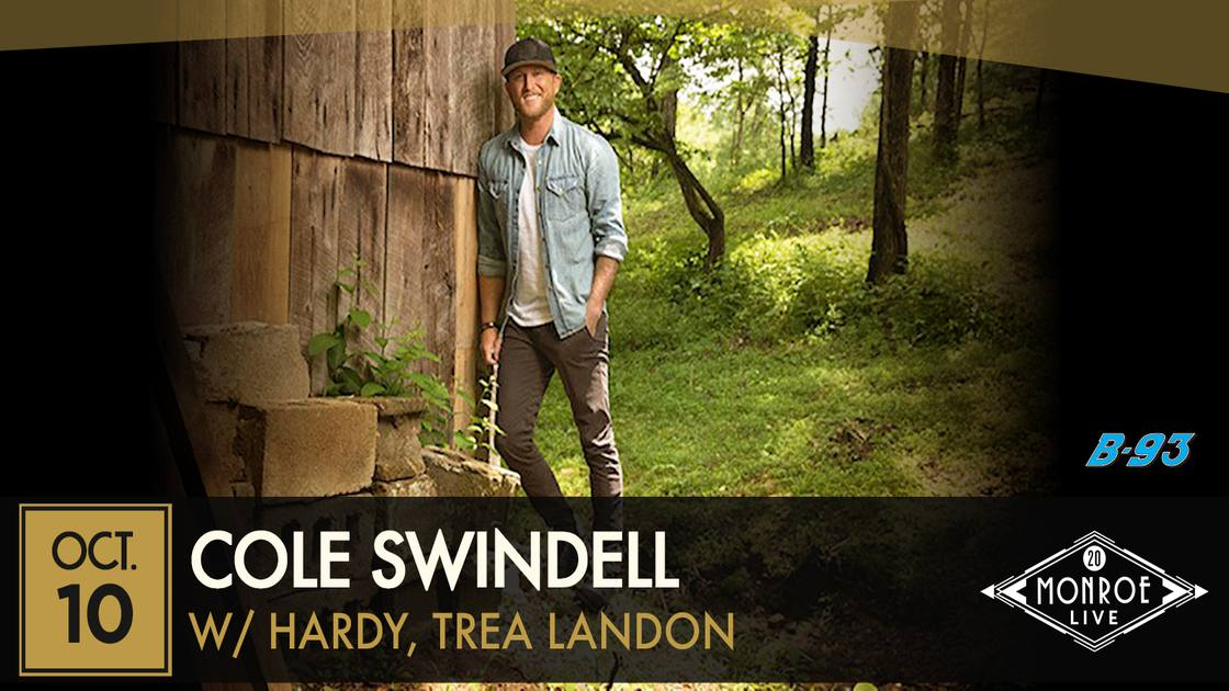 *RESCHEDULED* Cole Swindell: Down To Earth Tour with HARDY, Trea