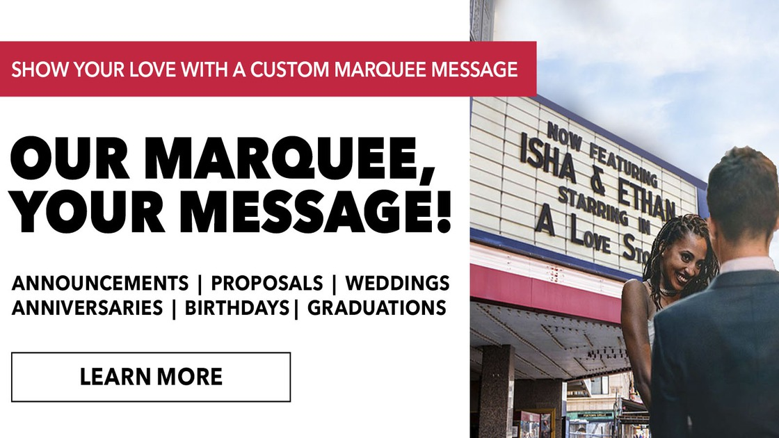 Custom Marquee Message - Announcements - Proposals - Weddings -