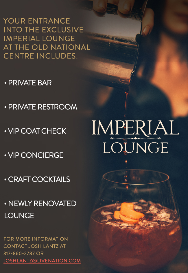Imperial Lounge: Private Bar, Restroom, VIP Coat Check, Concierge, Cocktails