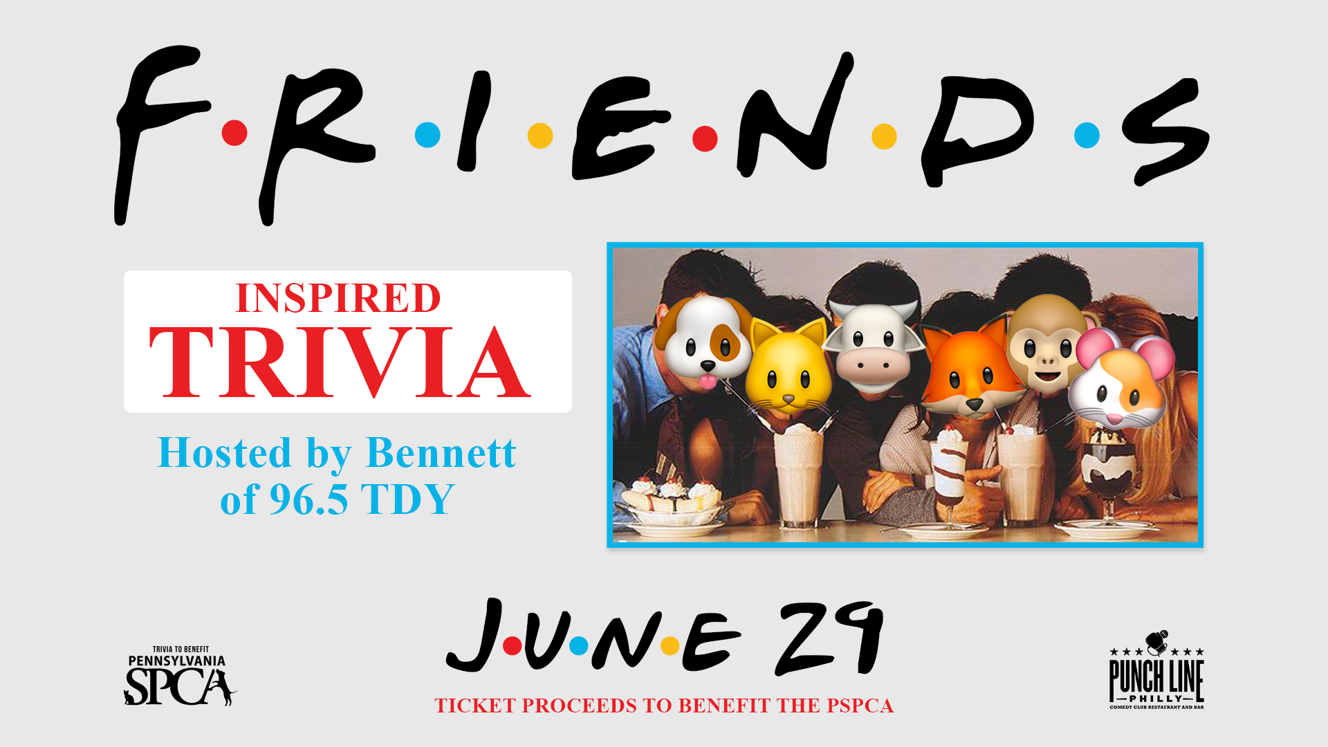 Friends Trivia to benefit the PSPCA