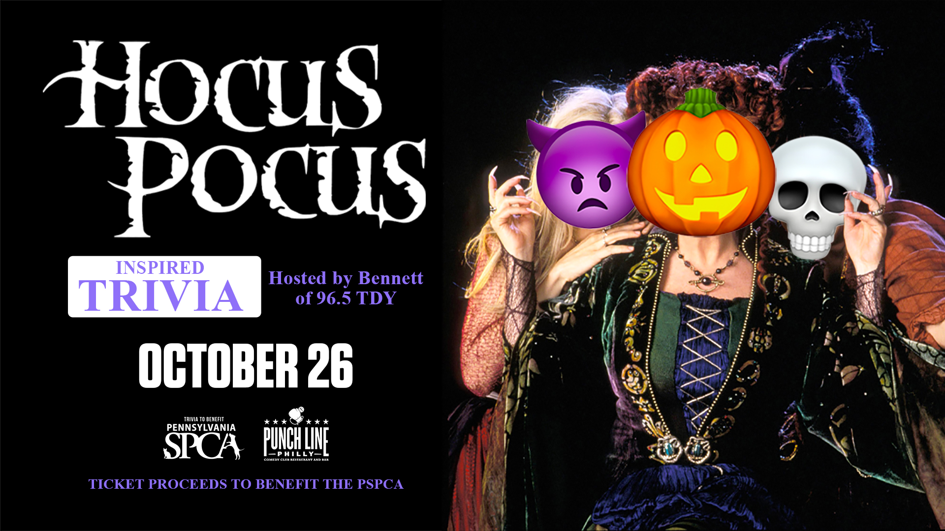 Hocus Pocus Trivia To Benefit The PSPCA