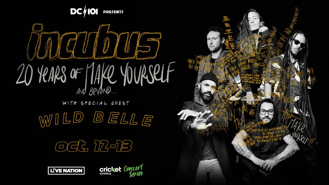 Incubus October 12-13 Warner Theatre Show