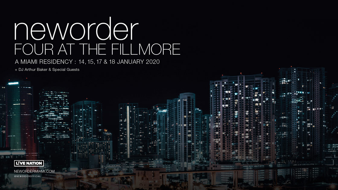 Neworder Four at the Fillmore, a Miami Residency